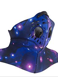 baratos -Máscara Facial Todas as Estações Manter Quente / Á Prova-de-Pó / Respirabilidade Acampar e Caminhar / Exercicio Exterior / Ciclismo / Moto Unisexo Poliéster Galáxia / Multi-Côr
