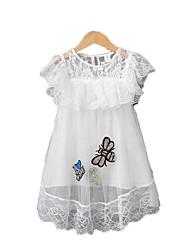 cheap -Kids Girls' Print Short Sleeve Dress