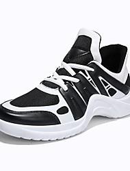 abordables -Homme Semelles légères Tricot / Polyuréthane Printemps & Automne Confort Chaussures d'Athlétisme Course à Pied / Tennis Noir / Noir / blanc