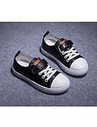 abordables -Fille Garçon Chaussures Cuir Printemps & Automne Confort Basket Scotch Magique pour Enfants De plein air Blanc Noir