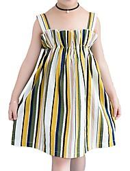 cheap -Kids Girls' Black & Red Striped Sleeveless Dress