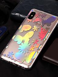 baratos -Capinha Para Xiaomi Redmi Note 5 Pro / Redmi 5A Galvanizado / Estampada Capa traseira Borboleta Macia TPU para Xiaomi Redmi Note 5 Pro /