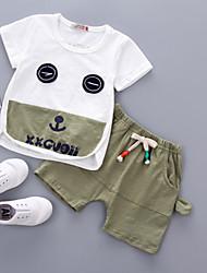 Недорогие -малыш Мальчики С принтом / Пэчворк С короткими рукавами Набор одежды
