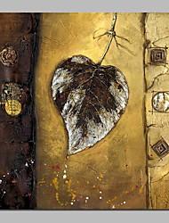 abordables -Pintura al óleo pintada a colgar Pintada a mano - Naturaleza muerta / Floral / Botánico Vintage Lona