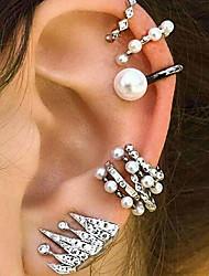 abordables -Femme Incompatibilité Clips / Poignets oreille / Boucles d'oreilles - Perle Rétro, Bohème, Ethnique Argent Pour Soirée / Plein Air