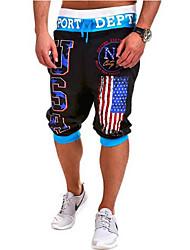 baratos -Homens Activo / Básico Shorts Calças - Geométrica