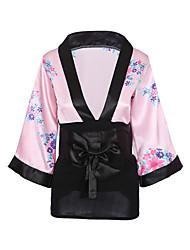 Недорогие -Жен. Сексуальные платья Форма / чонсам Ночное белье - С принтом Вышивка / V-образный вырез