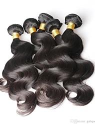 baratos -6 pacotes Cabelo Peruviano Ondulado Cabelo Humano Cabelo Humano Ondulado Côr Natural Tramas de cabelo humano Vida / Macio / Nova chegada Extensões de cabelo humano Mulheres