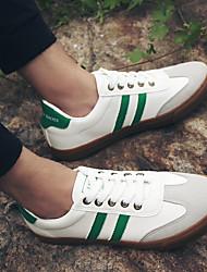 cheap -Men's PU(Polyurethane) Fall Comfort Sneakers Red / Black / White / White / Green