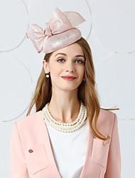abordables -Lin Fascinators / Chapeaux / Coiffure avec Plume / Fleur 1pc Mariage / Fête / Soirée Casque