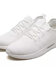 abordables -Homme Chaussures Tulle / Tissu Eté Confort Chaussures d'Athlétisme Course à Pied Blanc / Noir / Gris