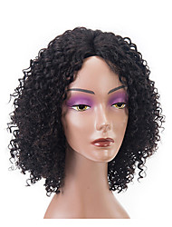 abordables -Cabello Remy Encaje Frontal Peluca Cabello Brasileño / Kinky Curly Rizado Peluca Bob corto 150% 100% Virgen Mujer Corta Pelucas de Cabello Natural