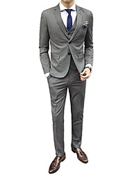 cheap -Men's Suits-Houndstooth Notch Lapel / Long Sleeve / Work