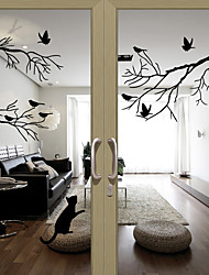cheap -Window Film & Stickers Decoration Lovely Character PVC Window Sticker Water-Repellent