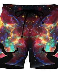 Недорогие -Муж. Цвет радуги Плавки-боксеры Трусики, шорты и т.д. Купальники - Радужный 4XL XXXXXL XXXXXXL