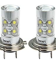 Недорогие -SENCART 2pcs H7 Мотоцикл / Автомобиль Лампы 50W SMD LED 3100lm 10 Светодиодная лампа Противотуманные фары For Универсальный Все года