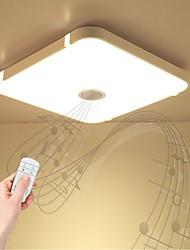 Недорогие -1шт 24 W 48 Светодиодные бусины Bluetooth-динамик Пульт управления Диммируемая Потолочный светильник Тёплый белый Холодный белый Естественный белый 220-240 V Дом / офис Гостиная / столовая Спальня
