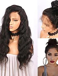 billige -Remy hår Blonde Front Paryk Brasiliansk hår Bølget Paryk 130% Med Baby Hair / nyt / Natural Hairline Naturlig Dame Kort / Lang / Mellemlængde Blondeparykker af menneskehår