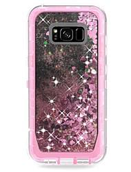 baratos -Capinha Para Samsung Galaxy S9 Plus / S8 Plus Antichoque / Liquido Flutuante / Armadura Capa traseira Armadura / Glitter Brilhante Rígida PC para S9 / S9 Plus / S8 Plus
