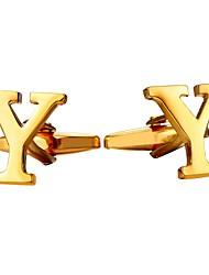 Недорогие -Буквы Серебряный / Золотой Запонки Медь Мода Муж. Бижутерия Назначение Повседневные