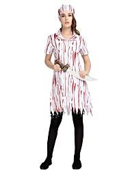 abordables -Ange et Diable / Ange déchu Tenue Femme Halloween / Carnaval / Le jour des morts Fête / Célébration Déguisement d'Halloween Blanc Rayé /
