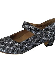 preiswerte -Damen Schuhe für modern Dance Glitzer Absätze Maßgefertigter Absatz Maßfertigung Tanzschuhe Silber / Rot / Innen