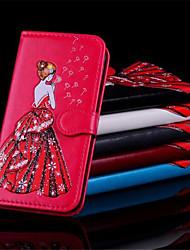 baratos -Capinha Para Samsung Galaxy S9 Plus / S9 Carteira / Porta-Cartão / Flip Capa Proteção Completa Mulher Sensual Rígida PU Leather para S9 / S9 Plus / S8 Plus