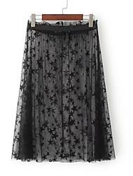 abordables -Mujer Bonito / Activo Línea A Faldas Galaxia