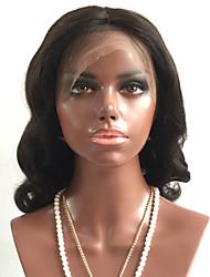 cheap -Virgin Human Hair Full Lace Wig Brazilian Hair / Body Wave Wavy Wig Layered Haircut 180% With Baby Hair / For Black Women Black Women's Short / Long / Mid Length Human Hair Lace Wig