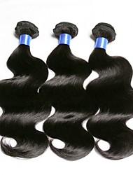 abordables -Lot de 3 Cheveux Eurasiens Ondulation naturelle 8A Cheveux Naturel humain Cheveux humains Naturels Non Traités Extension Bundle cheveux One Pack Solution 8-28 pouce Naturel Couleur naturelle Tissages