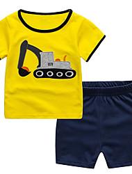 Недорогие -Дети / Дети (1-4 лет) Мальчики Контрастных цветов С короткими рукавами Набор одежды