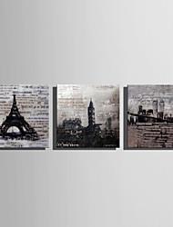 Недорогие -С картинкой Отпечатки на холсте - Пейзаж Архитектура Modern