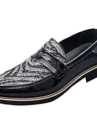cheap -Men's Novelty Shoes Faux Leather Spring Comfort Loafers & Slip-Ons Red / Black / White