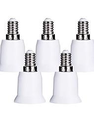 billige -ZDM® 5pcs E14 til E27 E14 / E26 / E27 Bulb tilbehør / Adapter Lysstik Plast & Metal