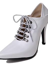 Недорогие -Жен. Обувь Полиуретан Весна лето Оригинальная обувь Обувь на каблуках Для прогулок На шпильке Заостренный носок Черный / Синий / Розовый