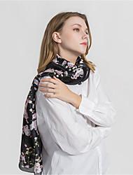 abordables -Mujer Volante Rectángulo - Vintage / Fiesta Floral Blanco y Negro