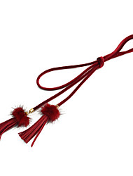 cheap -Women's Active Skinny Belt - Solid Colored Tassel