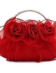 Недорогие -Жен. Мешки Шелк Вечерняя сумочка Кружева Цвет шампанского / Красный / Лиловый