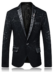 cheap -Men's Party Daily Business Casual Blazer-Color Block Peaked Lapel / Please choose one size larger according to your normal size.