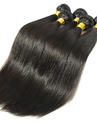 cheap -Burmese Hair Straight One Pack Solution Human Hair Weaves Valentine / Soft / Silky Natural Black Women's
