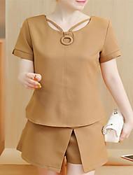 お買い得  -女性用 セット ソリッド ドレス