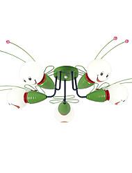 baratos -ZHISHU 5-luz Montagem do Fluxo Luz Ambiente - Estilo Mini, 110-120V / 220-240V Lâmpada Incluída / 10-15㎡ / E26 / E27