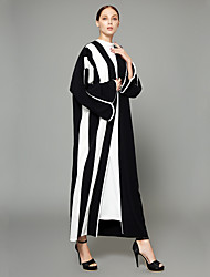 cheap -BENEVOGA Women's Street chic / Sophisticated Abaya - Solid Colored / Striped / Color Block, Patchwork