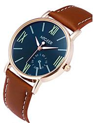 Недорогие -Муж. Наручные часы Китайский Секундомер / Повседневные часы Кожа Группа минималист / Cool Коричневый