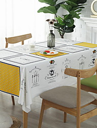 cheap -Contemporary Cotton Square Table Cloth Geometric Table Decorations 1 pcs