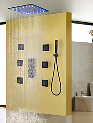 abordables -Grifo de ducha - Moderno Pintura Sistema ducha Válvula Cerámica