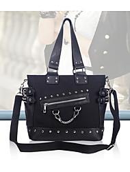 cheap -Women's Bags Oxford Cloth Tote Zipper Black