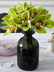 Недорогие -Искусственные Цветы 4.0 Филиал Простой стиль Пастораль Стиль Орхидеи Pастений Букеты на стол