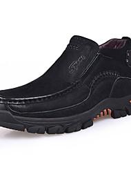Недорогие -Муж. Армейские ботинки Кожа Осень Ботинки Ботинки Черный / Темно-коричневый