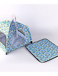 cheap -Dogs / Cats Pet Mats & Pads Polka Dot / Cartoon Foldable / Breathable / Tent Fuchsia / Blue For Pets